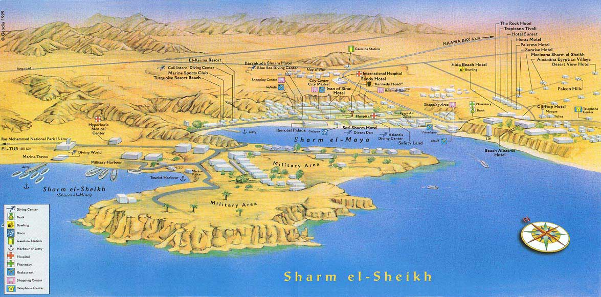 Карта Шарм Эль Шейха