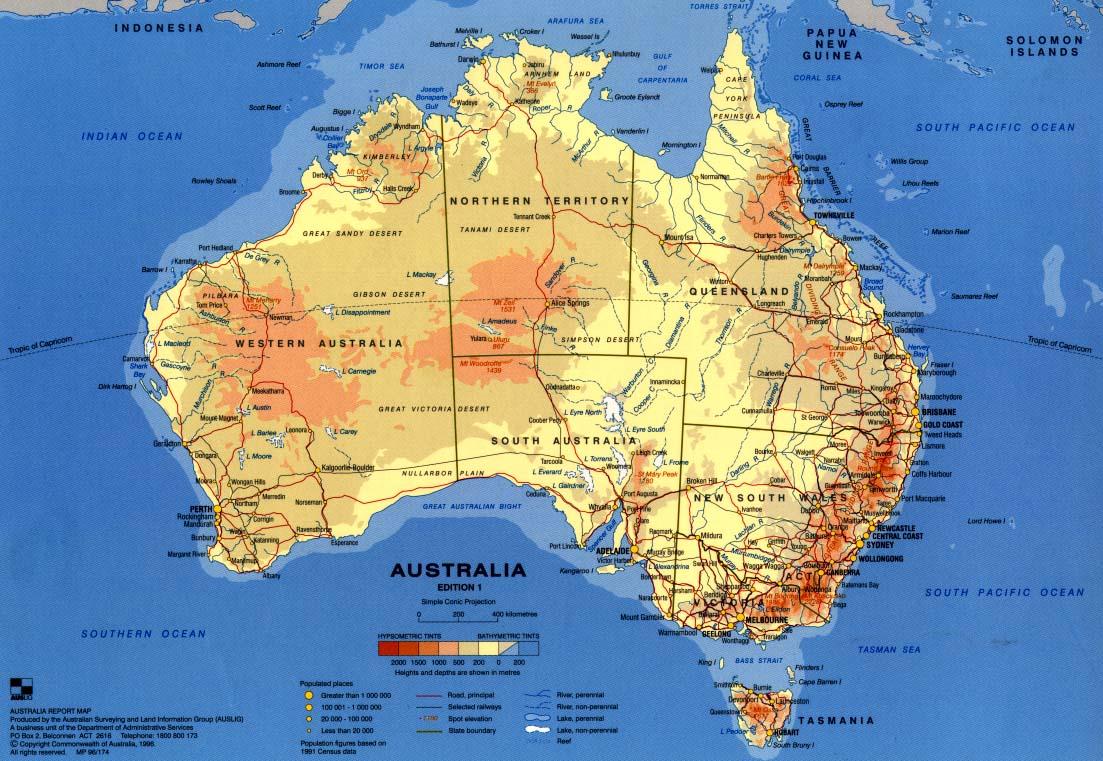 Карта австралии карта австралии
