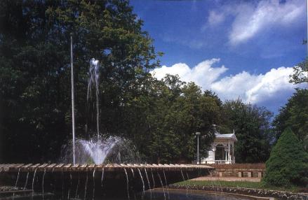 Фонтан и музыкальный повильон в Городских садах