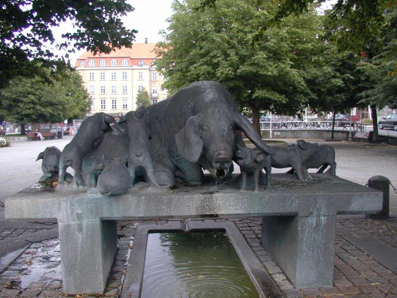 Ольбогр. Памятник свинье