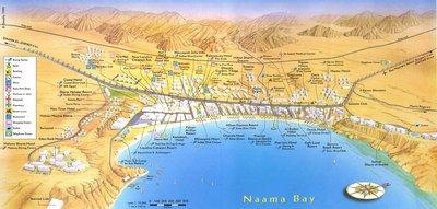 Карта бухты Наама Бэй (расположение отелей)