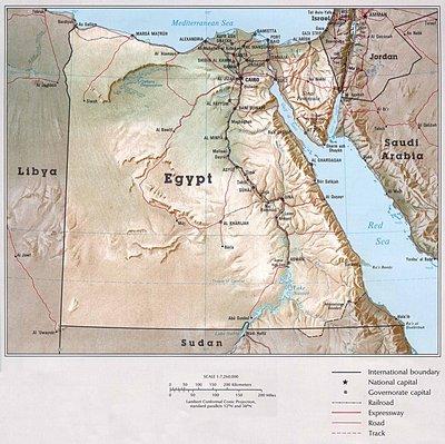 Топографическая карта Египта (530kb!)