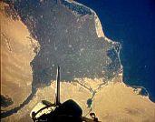 Фотография Дельты Нила из Космоса 13.10.1984