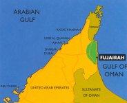 Карта Фуджейеры (Fujairah)