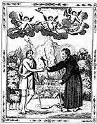 Ивану явился Иоанн Креститель и подарил ему крест, которым отшельник изгнал демонов