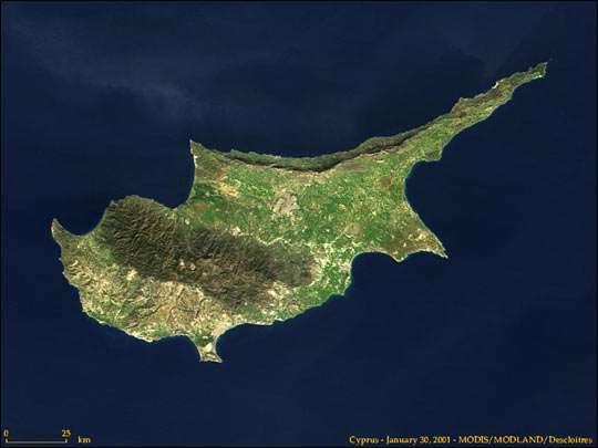 Фото Кипра из космоса