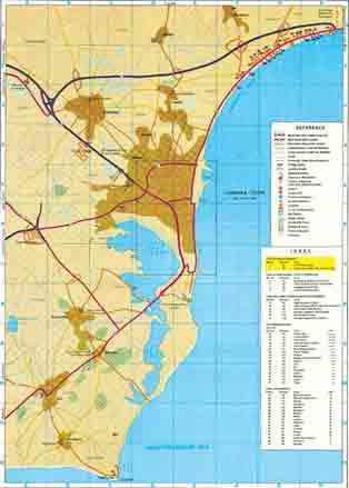 Карта Ларнаки (Larnaca)