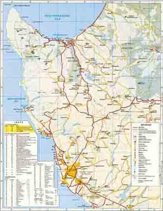 Карта Пафоса