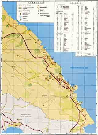 Карта Протараса (Protaras)