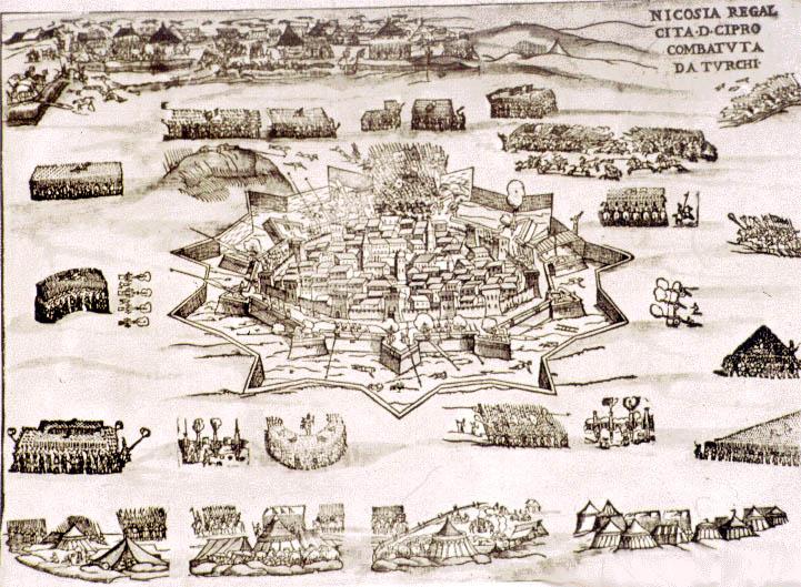 Старинные карты Никосии (Nicosia)