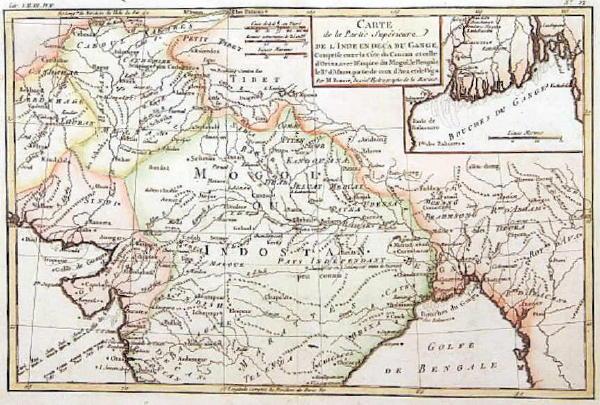 Старинные карты Индии