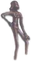 Статуэтка танцовщицы(?), найденная при раскопках.