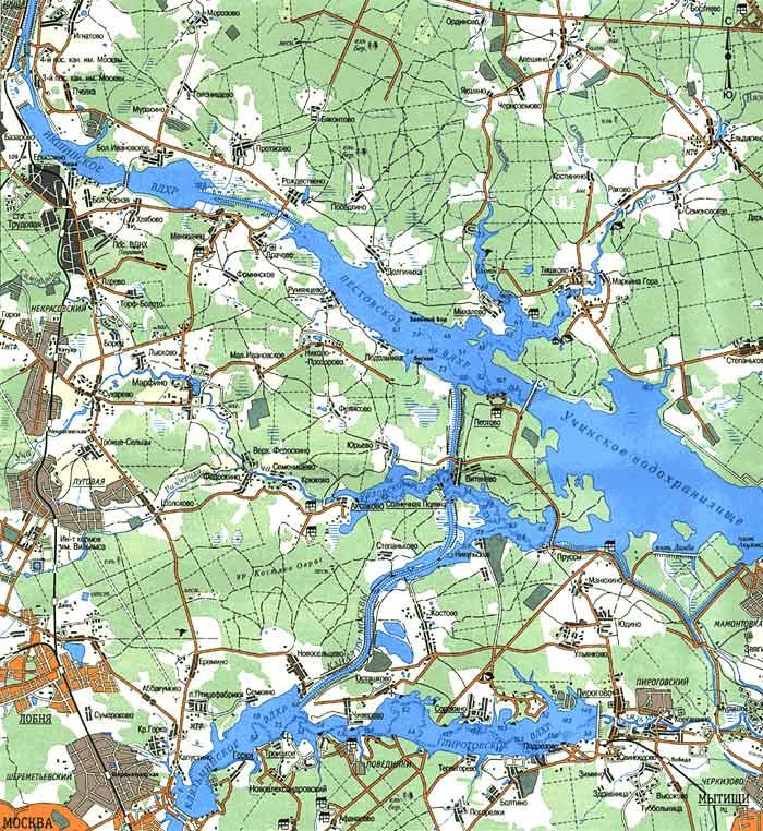 карта водохранилища (115КВ)