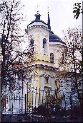 Усадьба Пехра-Яковлевское. Спасская церковь.