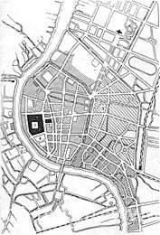Бангкок. План центральной части города.