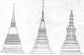 Схема основных типов таиландских ступ